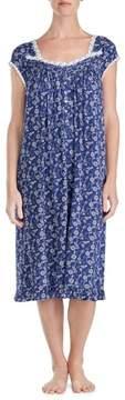 Eileen West Floral Print Nightgown