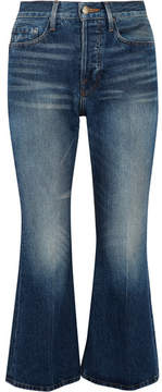 Frame Rigid Re-release Le Cropped High-rise Slim-leg Jeans - Mid denim