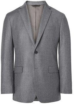 Banana Republic Standard Grey Pinstripe Italian Wool Flannel Suit Jacket