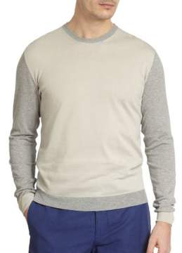 Incotex Two-Tone Crewneck Sweater