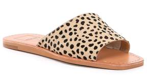 Dolce Vita Cato Leopard Printed Asymmetrical Slide Sandals