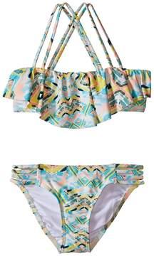 O Cabo Strappy Ruffle Top Bikini (Little Kids/Big Kids)