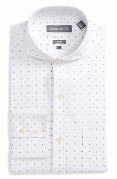 Michael Bastian Men's Trim Fit Print Dress Shirt