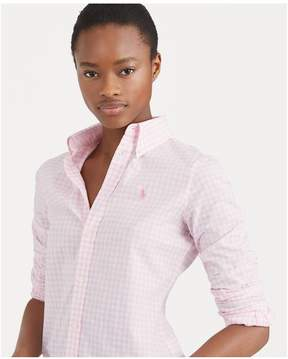 Polo Ralph Lauren | Slim Fit Gingham Poplin Shirt | L | Pink