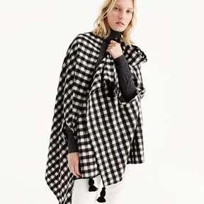 J.Crew Checkered cape-scarf