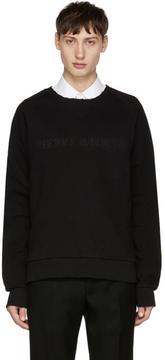 Pierre Balmain Black Tonal Logo Sweatshirt