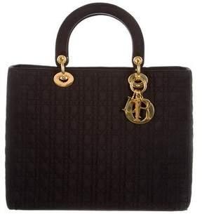 Christian Dior Large Nylon Lady Bag