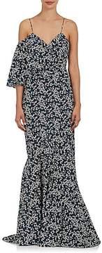 Zac Posen Women's Floral Cotton Poplin Gown