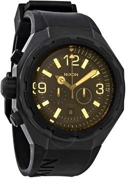 Nixon Steelcat Black Dial Men's Chronograph Watch