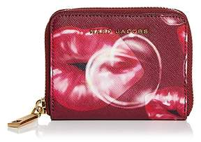 Marc Jacobs Printed Lips Zip Saffiano Leather Card Case