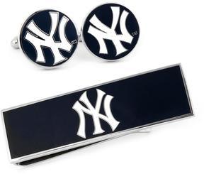 Ice New York Yankees Cufflinks and Money Clip Gift Set