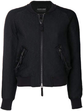 Emporio Armani back patch bomber jacket