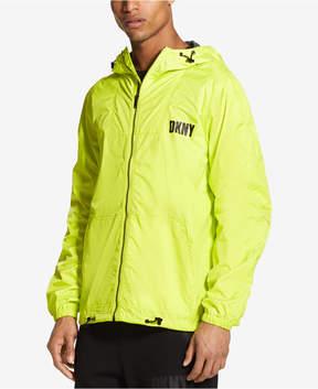 DKNY Men's Green Sheen Zip-Through Jacket