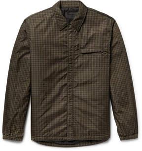 Prada Padded Checked Shell Shirt Jacket