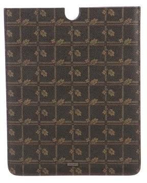 Dolce & Gabbana Leather 'Leaf' Printed iPad Case
