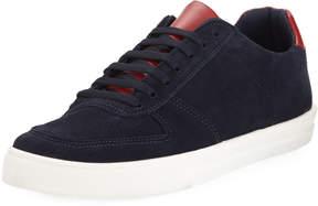 a. testoni a.testoni Suede Two-Tone Mixed Sneaker, Blue