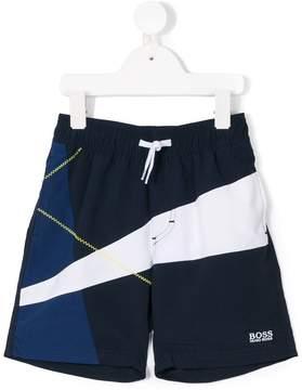 Trunks Boss Kids printed swim shorts