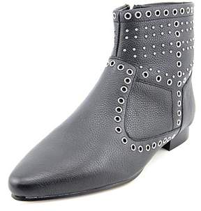 French Connection Womens Charlene Leather Pointed Toe Ankle Fashion Boots.