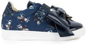 MonnaLisa Neoprene and patent leather sneakers