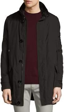 Allegri Men's Military Canvas Fur Lined Coat