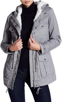 Blanc Noir Faux Fur Lined Utility Jacket