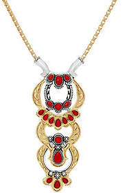 American West Luna Gemstone Sterling & Brass18 Necklace