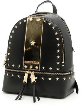 MICHAEL Michael Kors Rhea Stripe Backpack - BLK/GOLD|METALLICO - STYLE