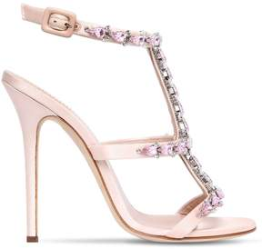 Giuseppe Zanotti Design 115mm Swarovski Satin Sandals