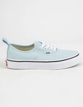 Vans Authentic Elastic Lace Blue Flower & True White Girls Shoes