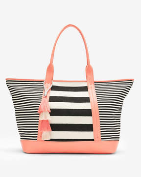 Express Striped Canvas Tote