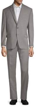 Lauren Ralph Lauren Birdseye Taupe Slim-Fit Two-Piece Suit