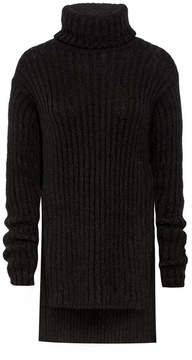 Balmain Mohair-blend Turtleneck Sweater - Black