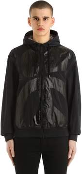 Love Moschino Crinkled Nylon Hooded Bomber Jacket