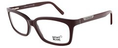 Montblanc Mb0429/v 071 Bordeaux Rectangular Eyewear.