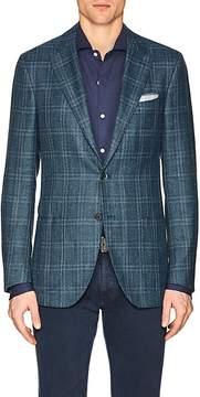 Isaia Men's Sanita Plaid Wool-Blend Two-Button Sportcoat