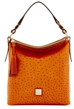 Dooney & Bourke Ostrich Small Sloan Bag. - TAN - STYLE