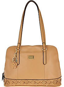 Tignanello As Is Smooth Leather Garden Party Dome Satchel