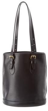 Louis Vuitton Black Epi Leather Petit Bucket. - BLACK - STYLE