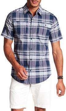Burnside Short Sleeve Plaid Print Woven Regular Fit Shirt