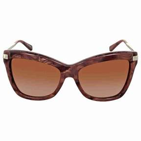 Michael Kors Audrina III Brown Gradient Square Sunglasses