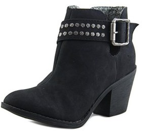 Blowfish Super Women Round Toe Leather Bootie.