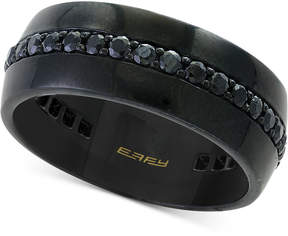 Effy Men's Black Sapphire Band (1-1/10 ct. t.w.) Band in Titanium-Plated Stainless Steel