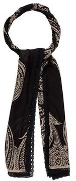 Etro Silk Lace-Trimmed Scarf