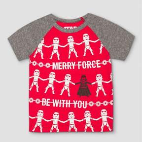 Star Wars Toddler Boy T-Shirt Short Sleeve Merry Force Be With You Red