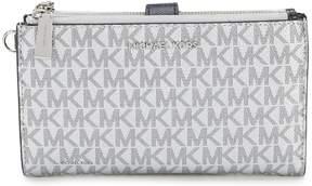 MICHAEL Michael Kors Signature Metallic Double-Zip Wristlet