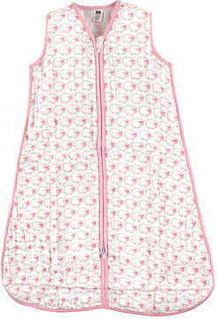 Hudson Baby White & Pink Sheep Sleeping Bag - Newborn & Infant