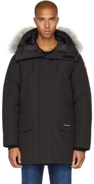 Canada Goose Black Down and Fur Langford Parka