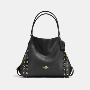COACH Coach Edie Shoulder Bag 31 With Link Detail - LIGHT GOLD/BLACK - STYLE