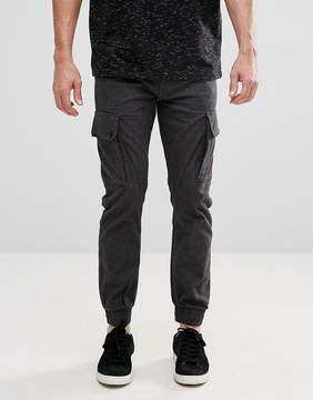 Jack and Jones Intelligence Smart Cargo PANTS in Herringbone