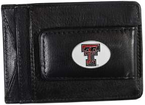 NCAA Texas Tech Red Raiders Black Leather Cash & Card Holder